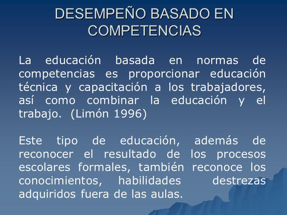DESEMPEÑO BASADO EN COMPETENCIAS