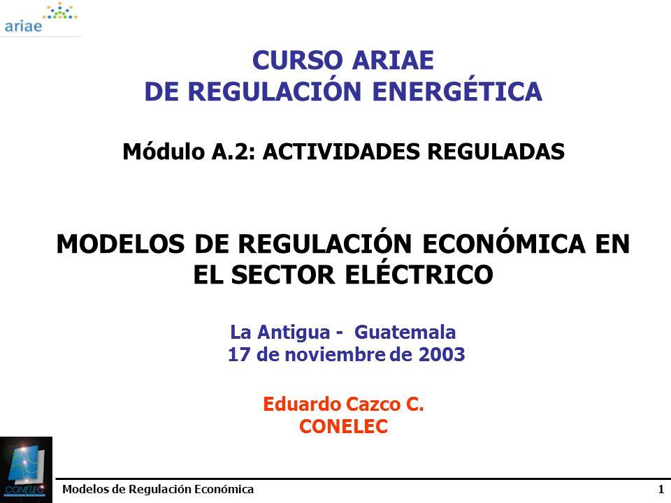 DE REGULACIÓN ENERGÉTICA