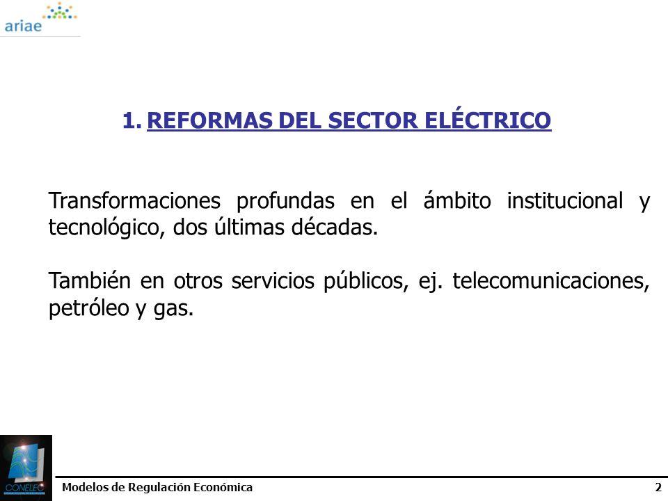 REFORMAS DEL SECTOR ELÉCTRICO