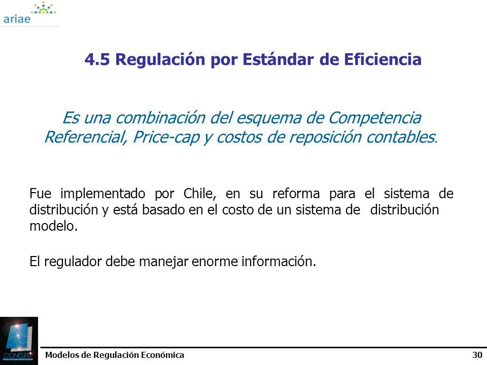 4.5 Regulación por Estándar de Eficiencia