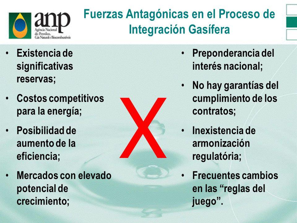 Fuerzas Antagónicas en el Proceso de Integración Gasífera