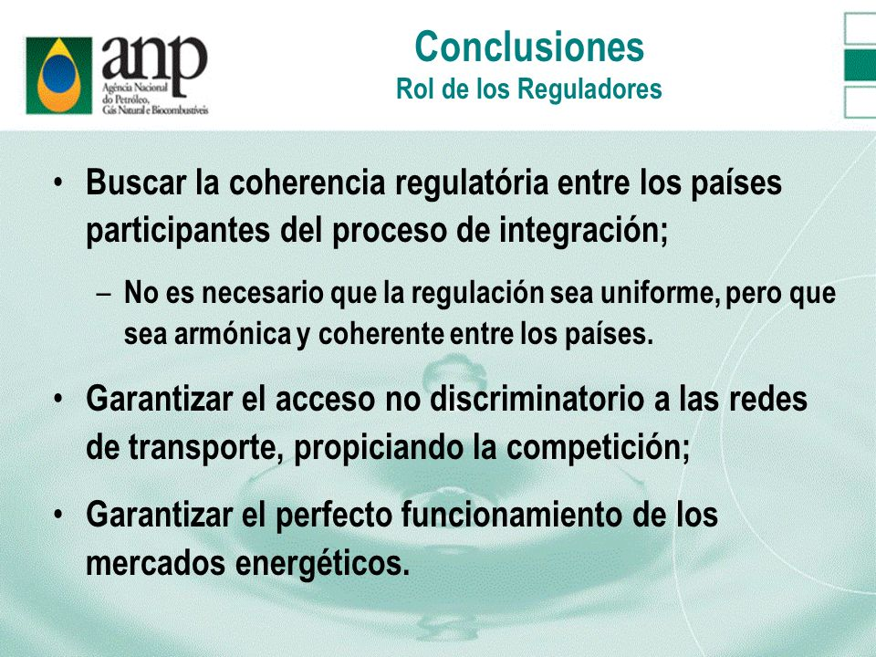 Conclusiones Rol de los Reguladores