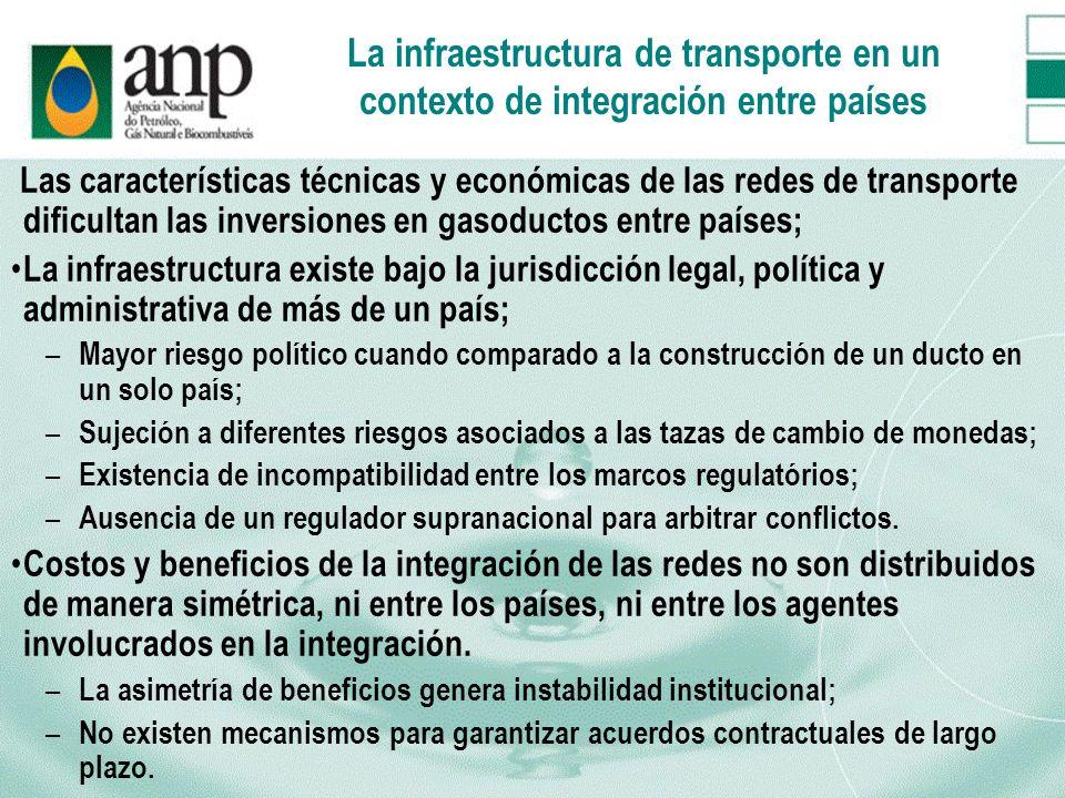 La infraestructura de transporte en un contexto de integración entre países
