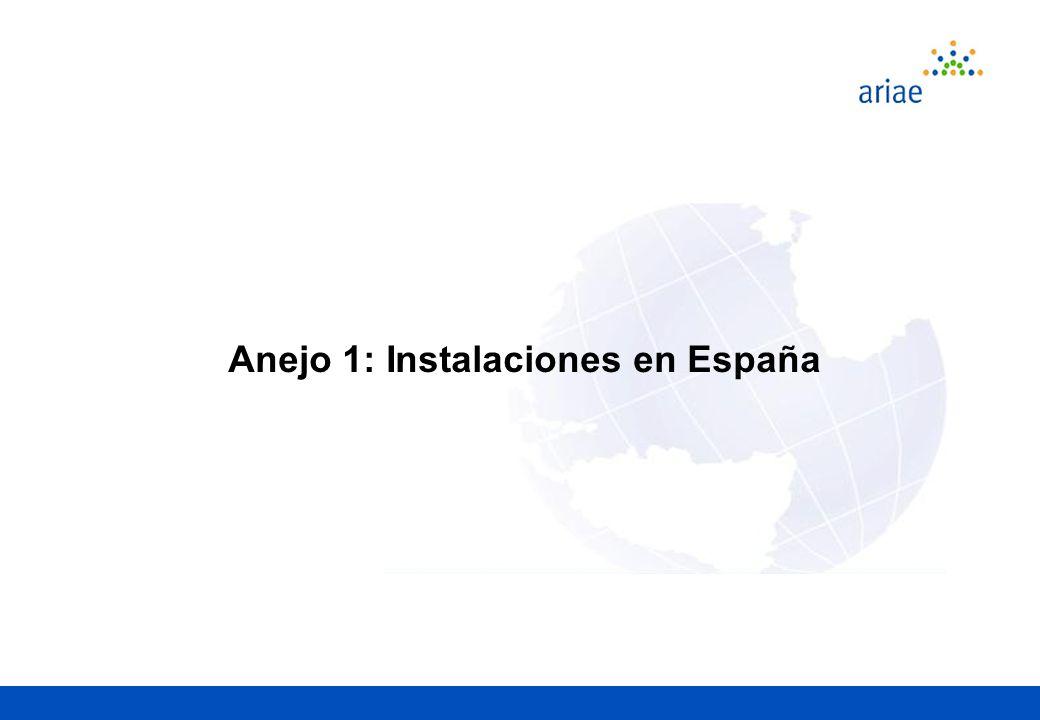 Anejo 1: Instalaciones en España
