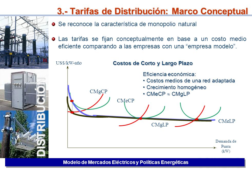 3.- Tarifas de Distribución: Marco Conceptual