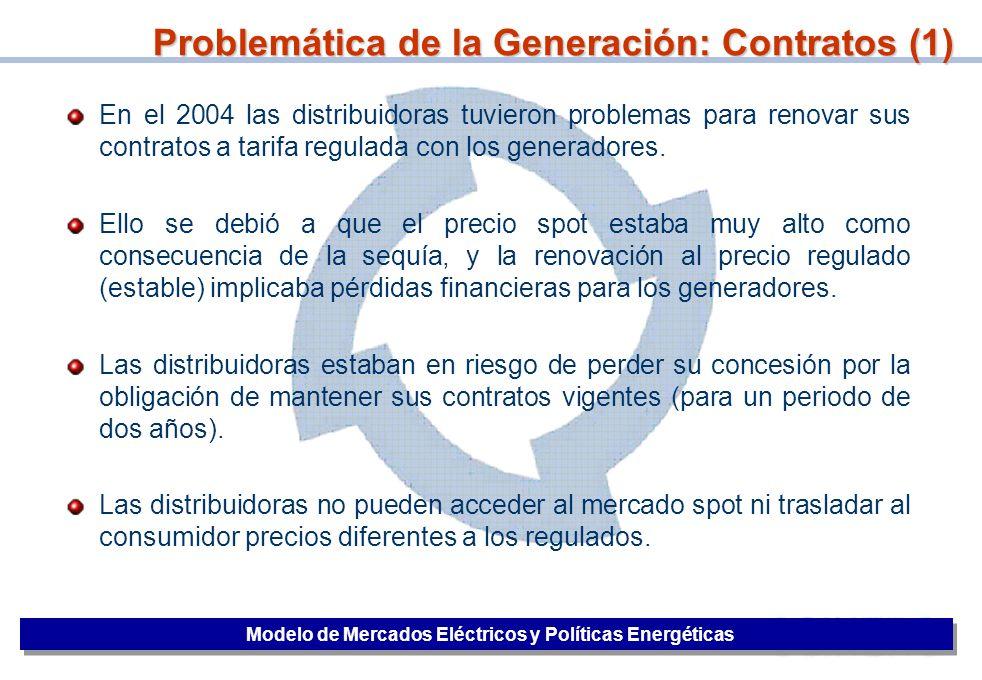 Problemática de la Generación: Contratos (1)