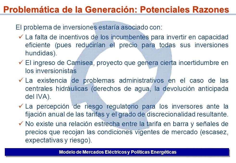 Problemática de la Generación: Potenciales Razones