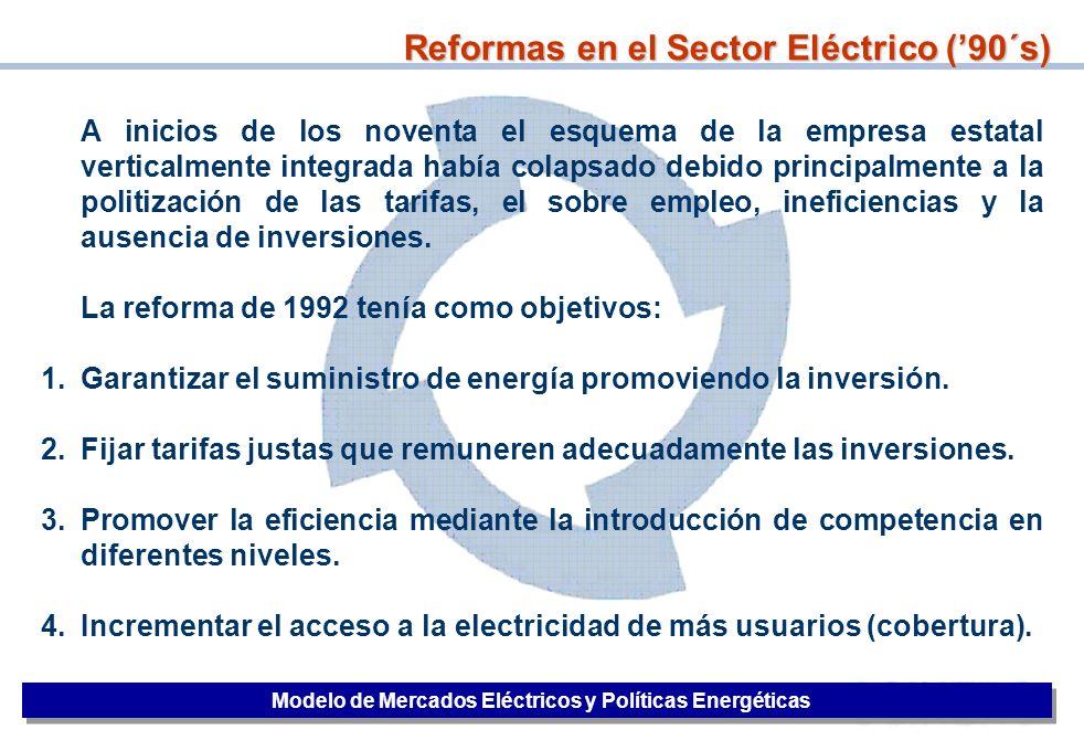Reformas en el Sector Eléctrico ('90´s)