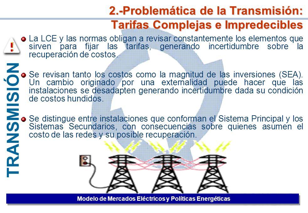 2.-Problemática de la Transmisión: Tarifas Complejas e Impredecibles