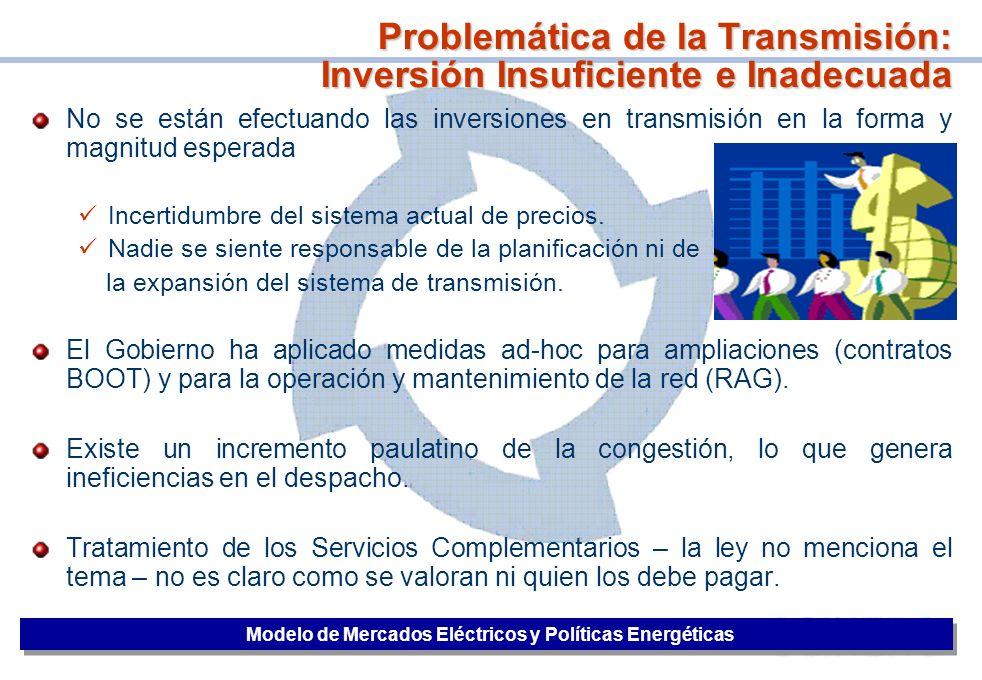 Problemática de la Transmisión: Inversión Insuficiente e Inadecuada