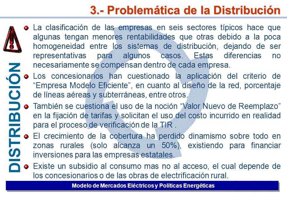 3.- Problemática de la Distribución