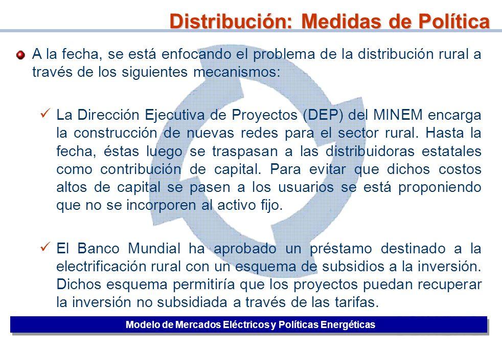 Distribución: Medidas de Política