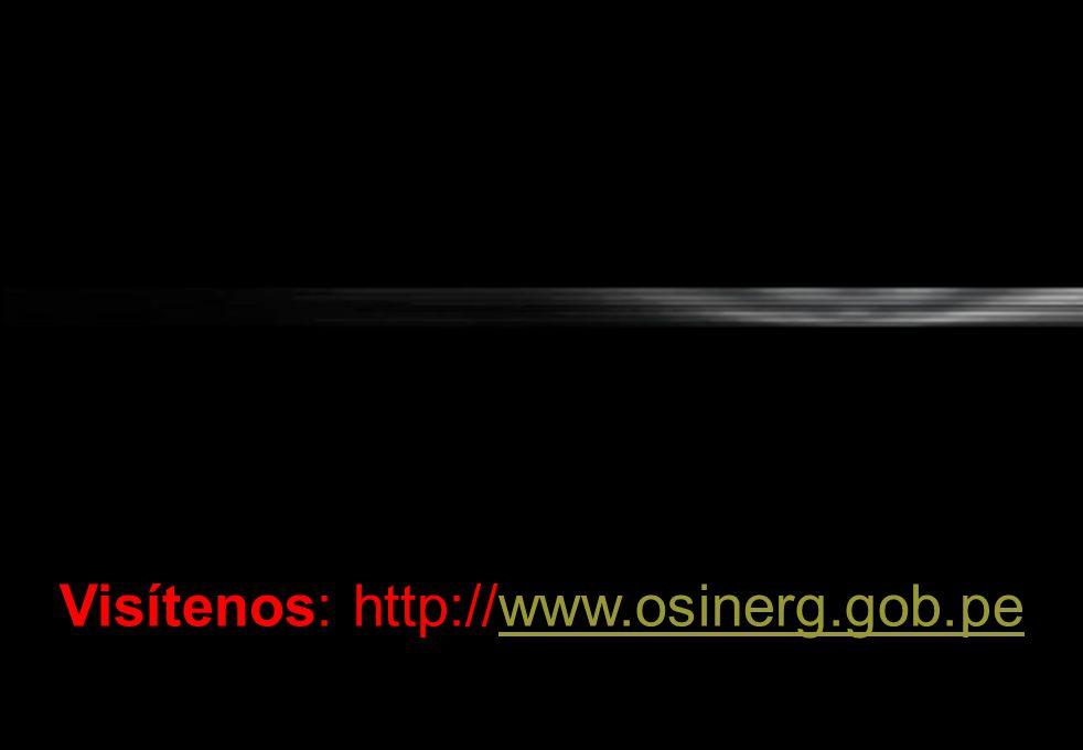 Visítenos: http://www.osinerg.gob.pe