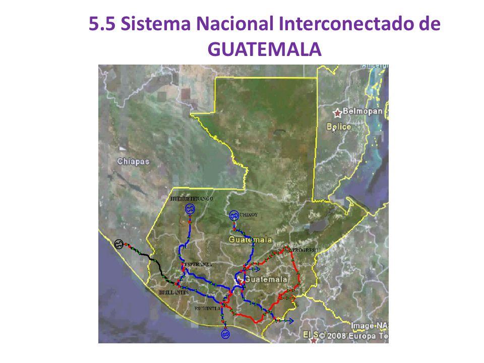 5.5 Sistema Nacional Interconectado de GUATEMALA
