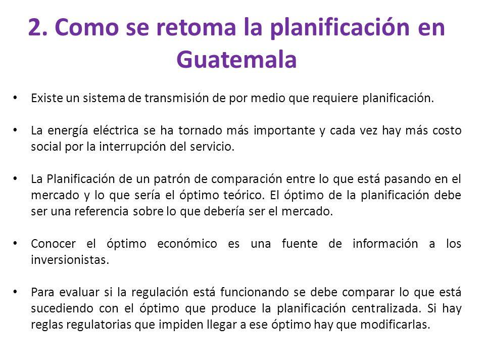 2. Como se retoma la planificación en Guatemala