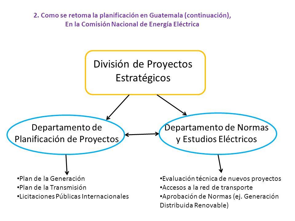División de Proyectos Estratégicos