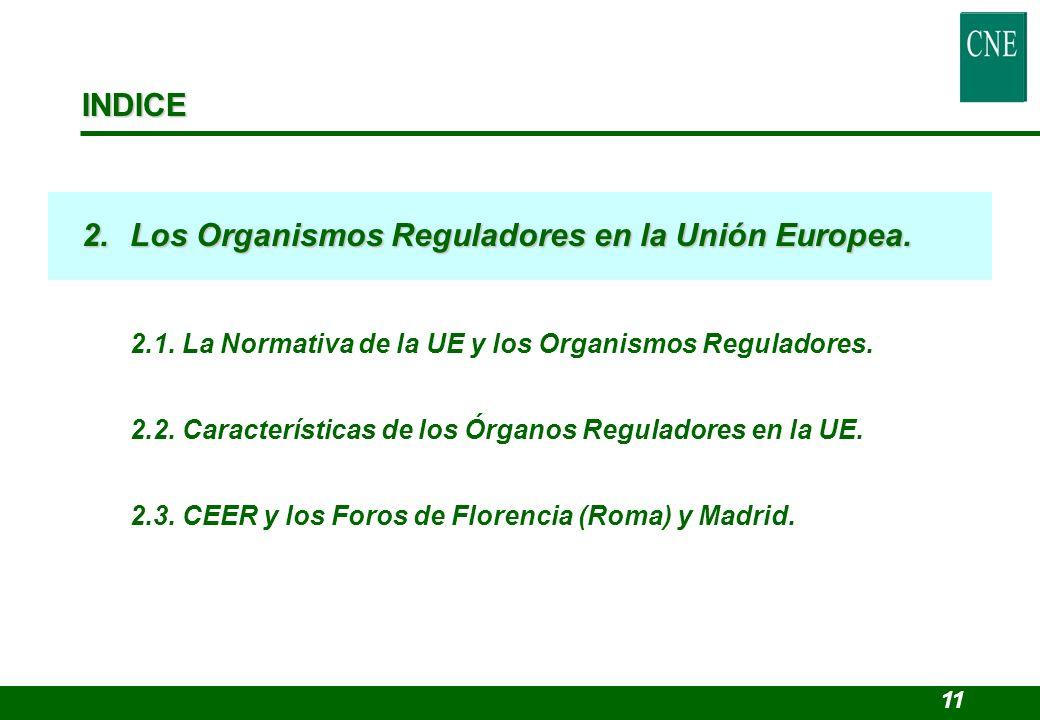 2. Los Organismos Reguladores en la Unión Europea.