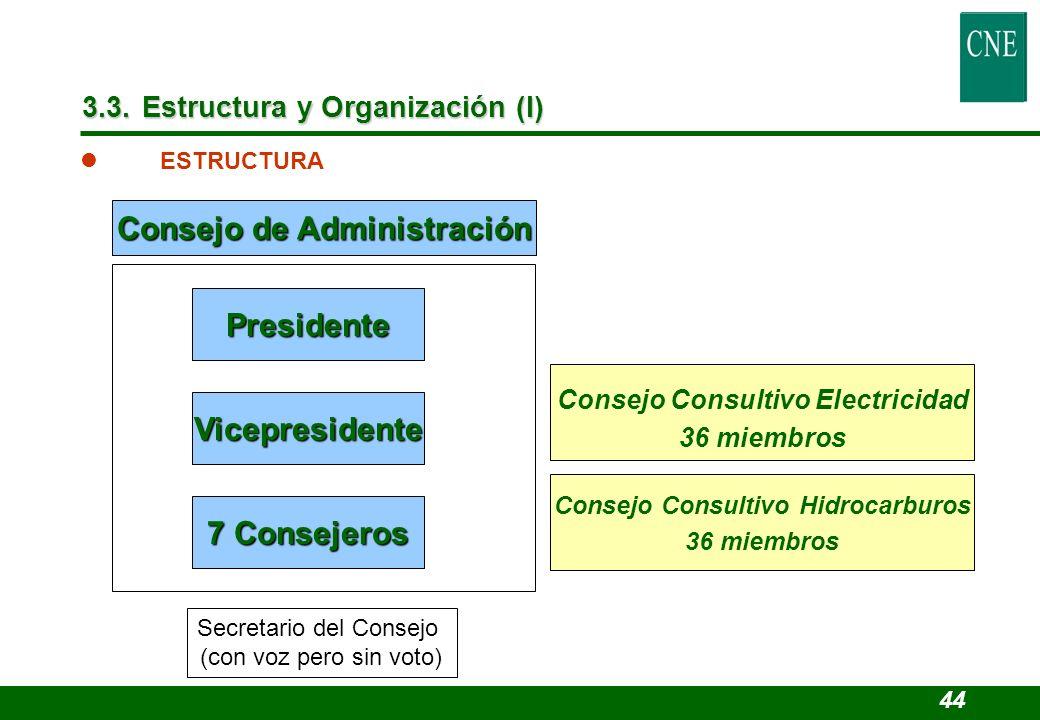 Consejo de Administración Consejo Consultivo Electricidad