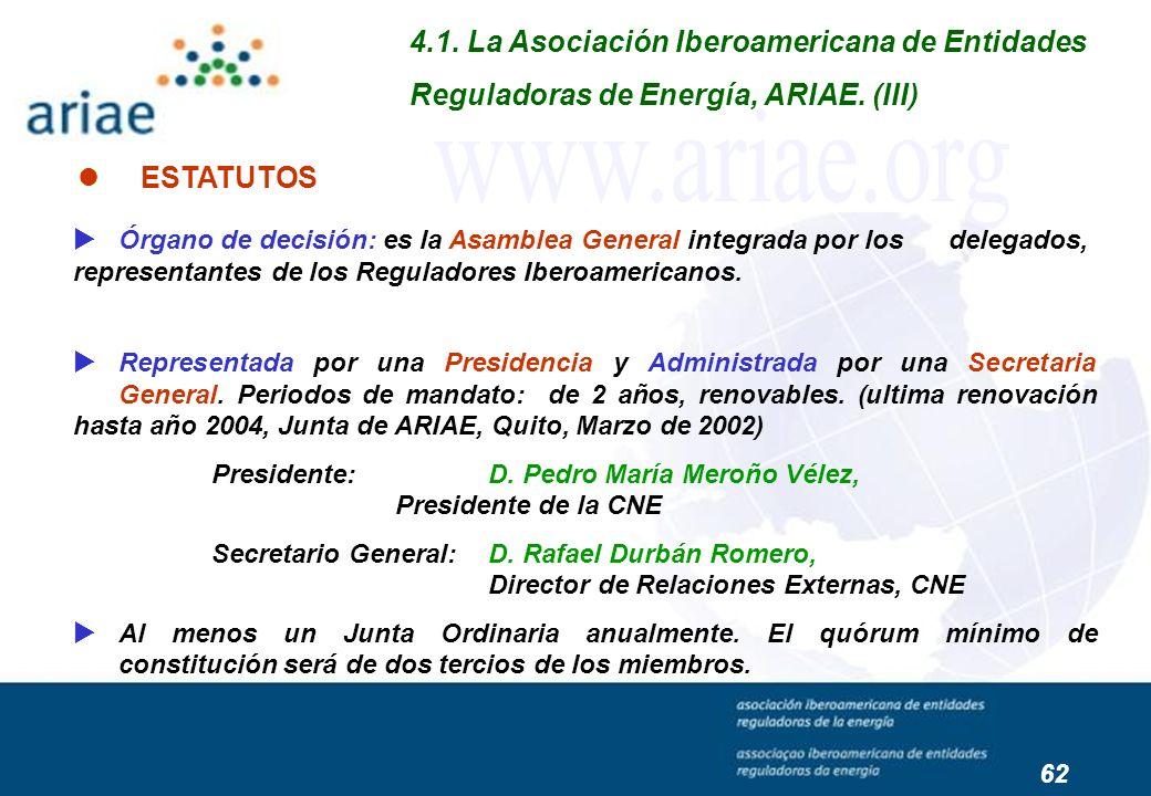 www.ariae.org 4.1. La Asociación Iberoamericana de Entidades