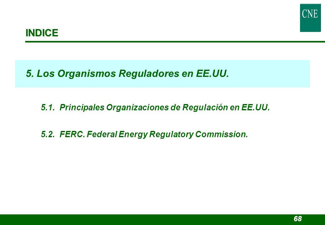 5. Los Organismos Reguladores en EE.UU.