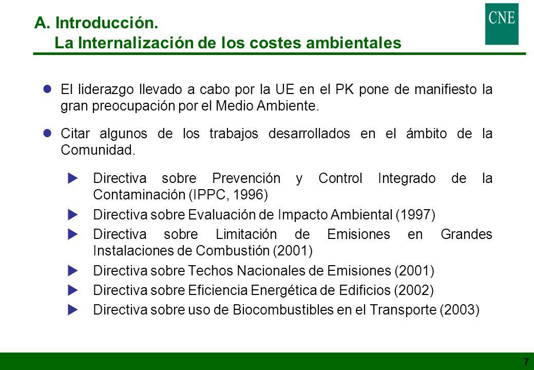 La Internalización de los costes ambientales