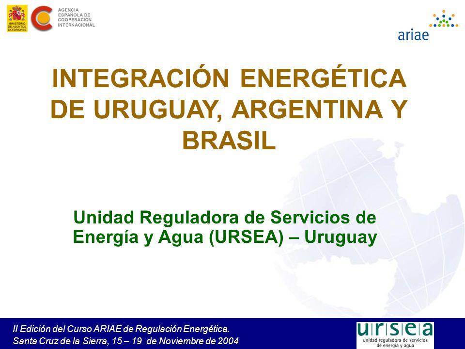 INTEGRACIÓN ENERGÉTICA DE URUGUAY, ARGENTINA Y BRASIL