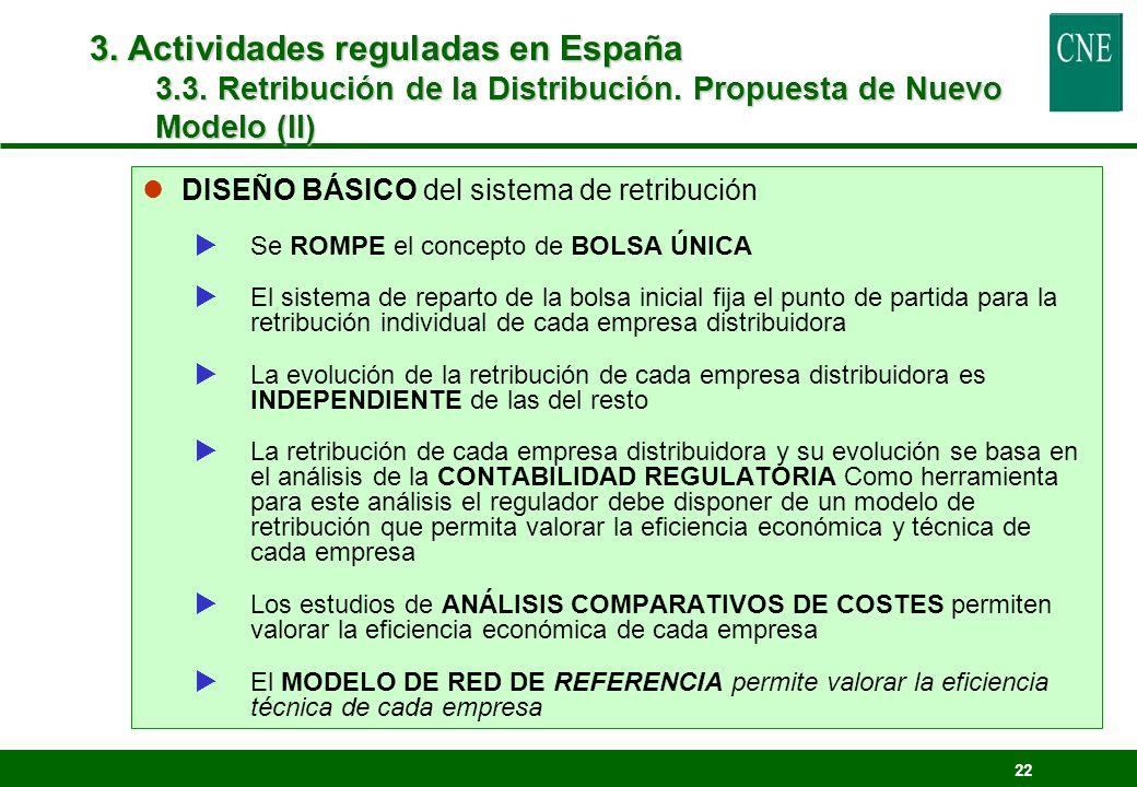 3. Actividades reguladas en España 3.3. Retribución de la Distribución. Propuesta de Nuevo Modelo (II)