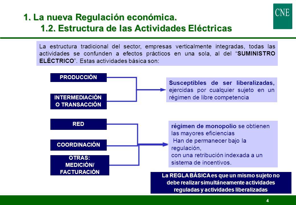 1. La nueva Regulación económica. 1. 2