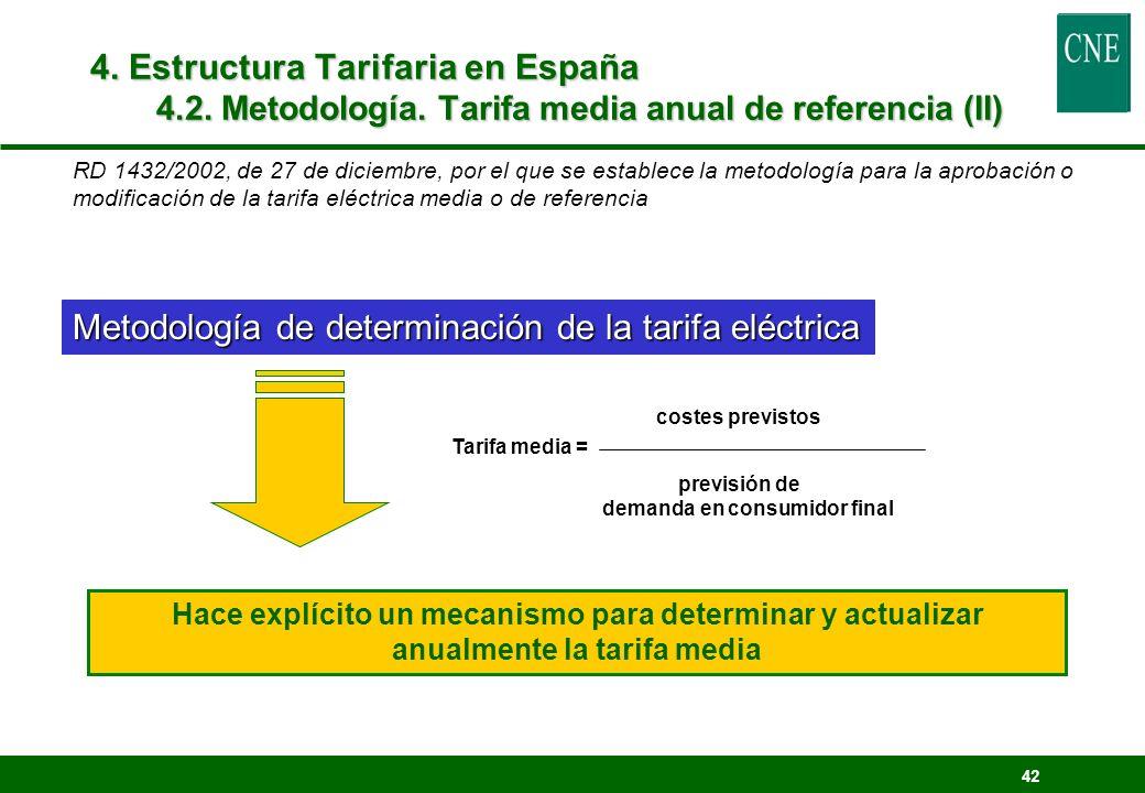 Metodología de determinación de la tarifa eléctrica