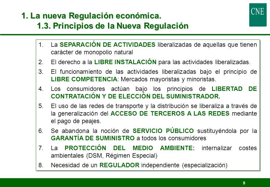 1. La nueva Regulación económica. 1. 3
