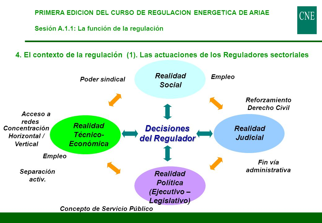 Decisiones del Regulador