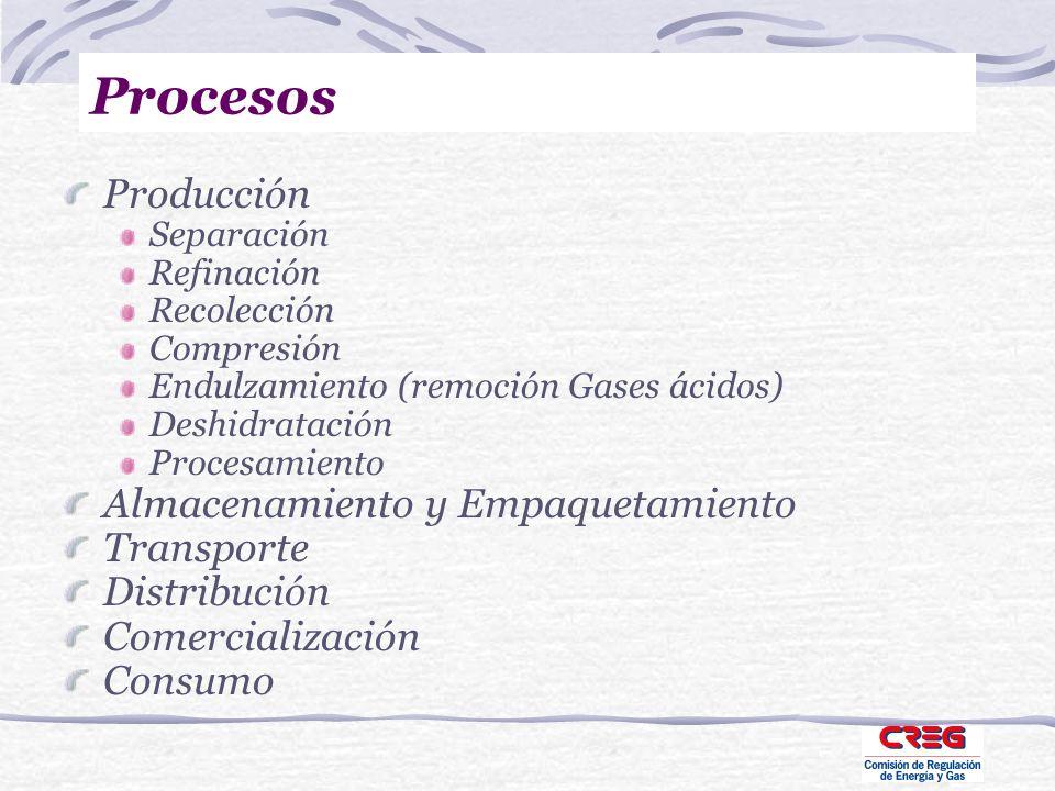 Procesos Producción Almacenamiento y Empaquetamiento Transporte