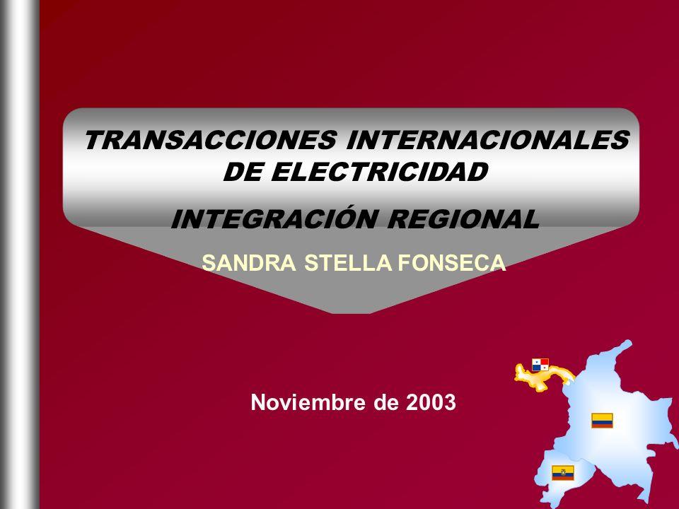 TRANSACCIONES INTERNACIONALES DE ELECTRICIDAD