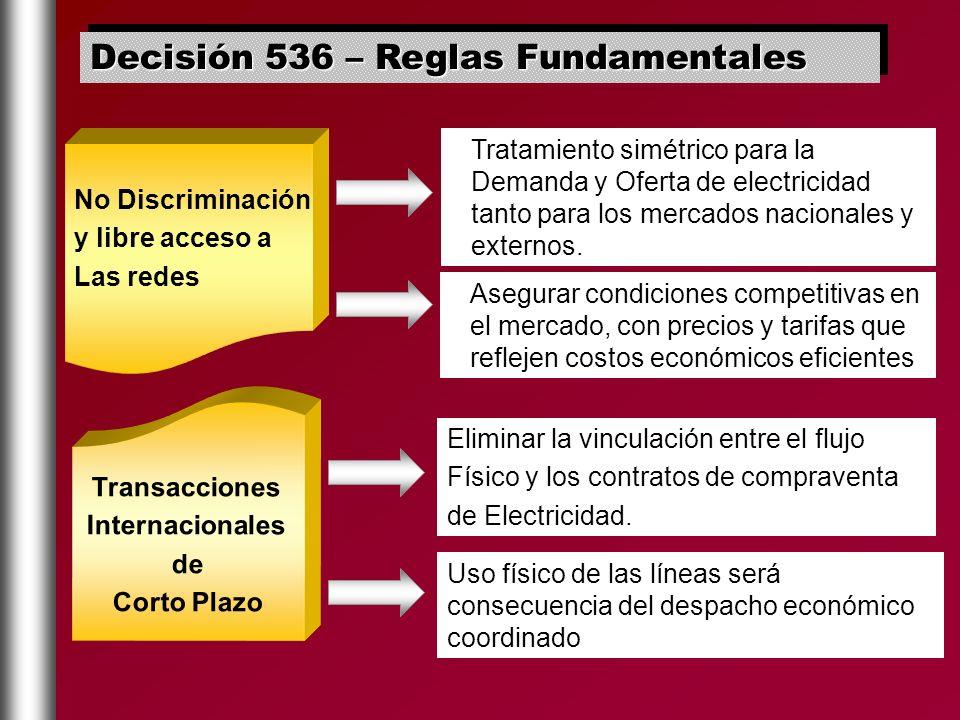 Decisión 536 – Reglas Fundamentales