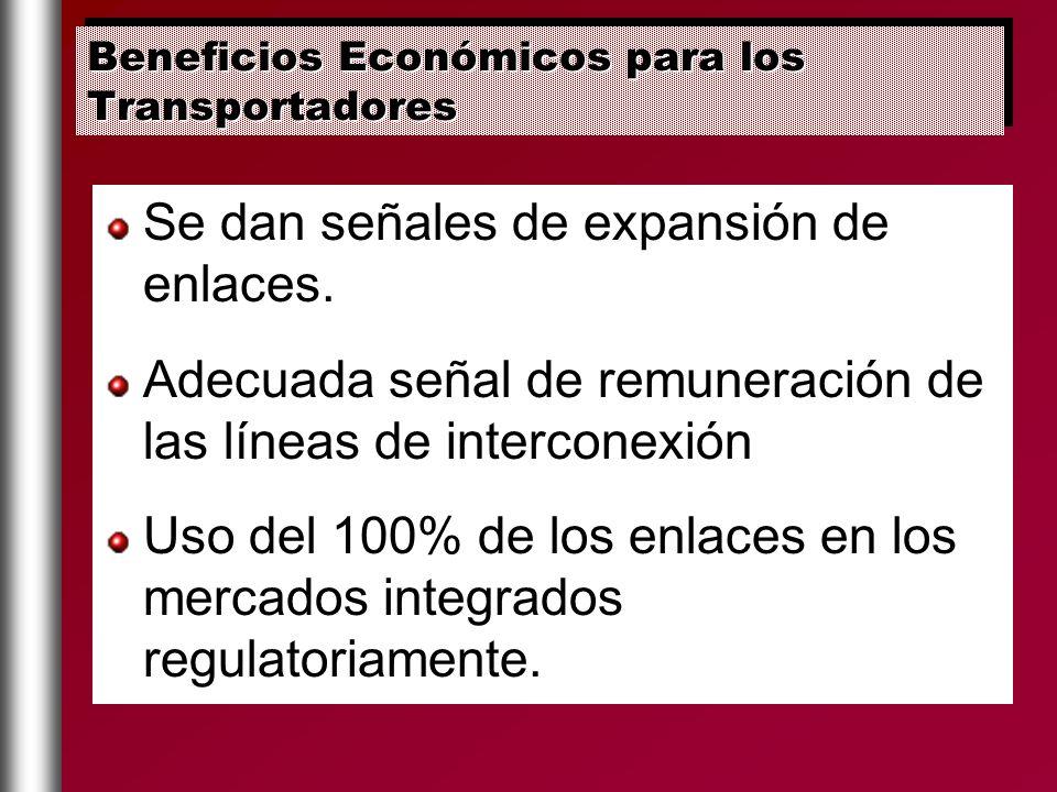 Beneficios Económicos para los Transportadores