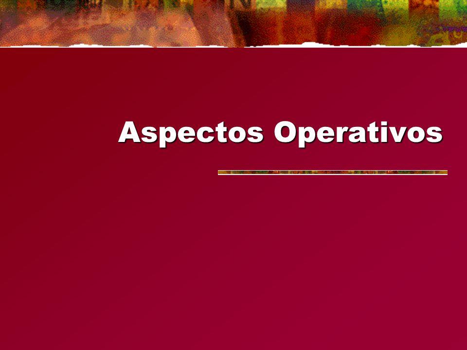 Aspectos Operativos