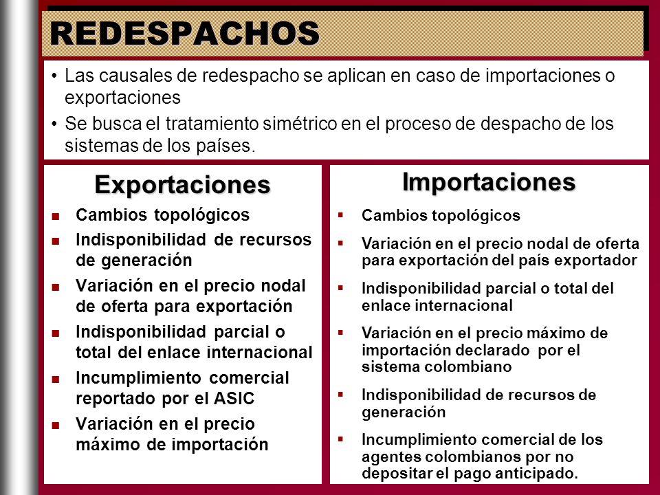 REDESPACHOS Exportaciones Importaciones