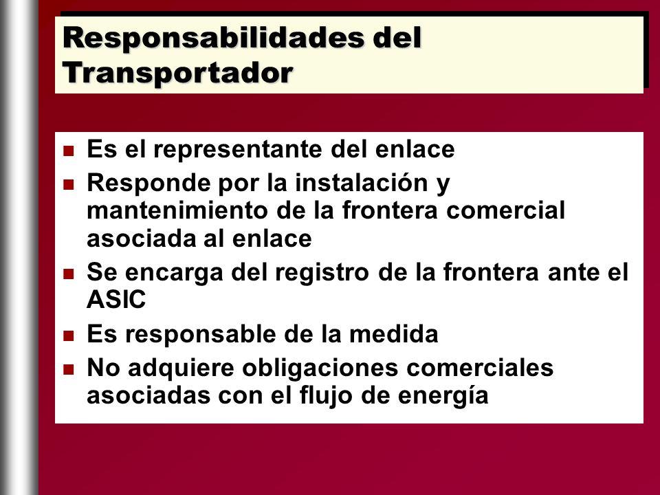 Responsabilidades del Transportador