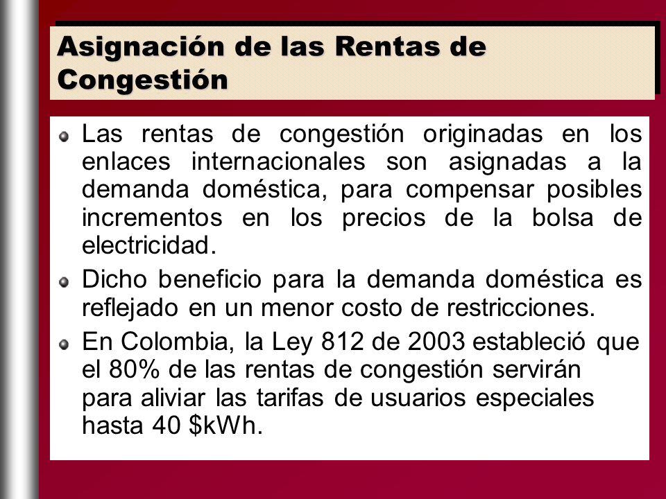Asignación de las Rentas de Congestión