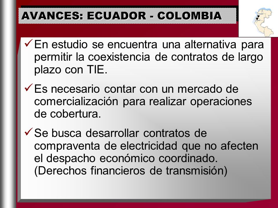 AVANCES: ECUADOR - COLOMBIA