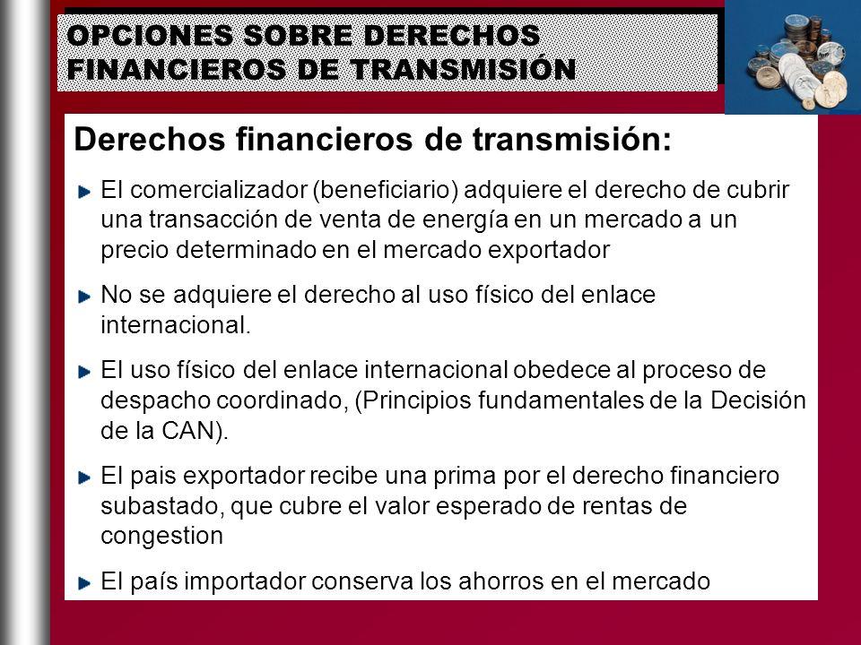 Derechos financieros de transmisión: