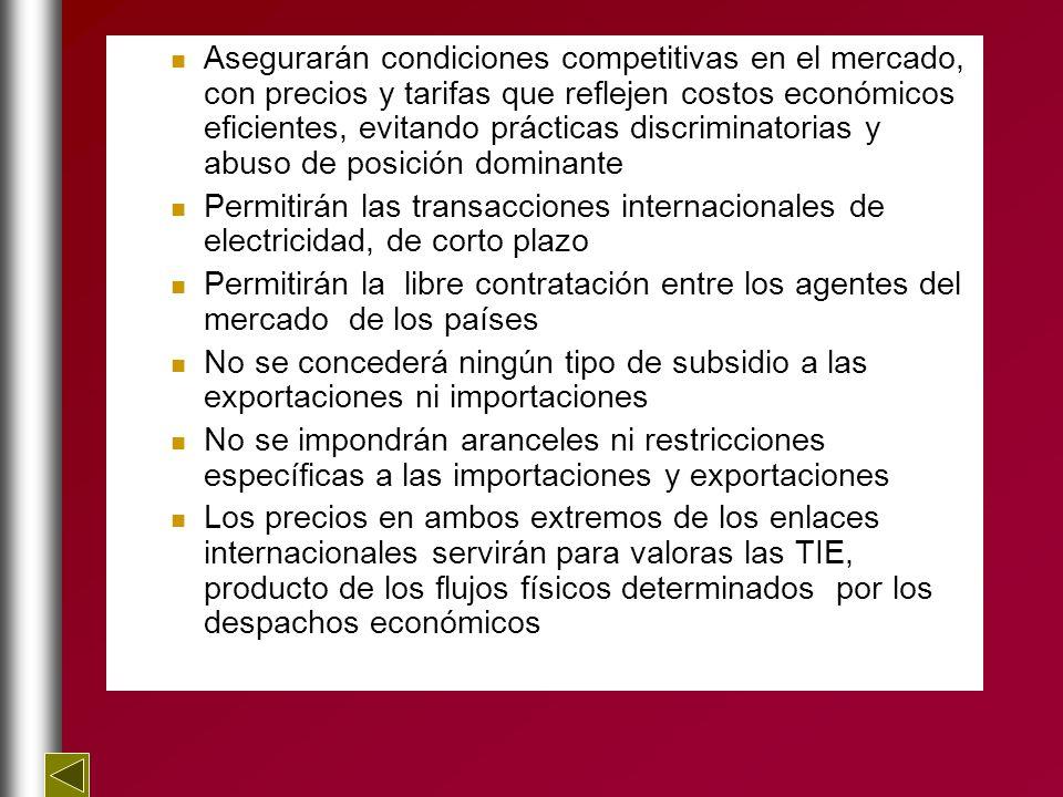 Asegurarán condiciones competitivas en el mercado, con precios y tarifas que reflejen costos económicos eficientes, evitando prácticas discriminatorias y abuso de posición dominante