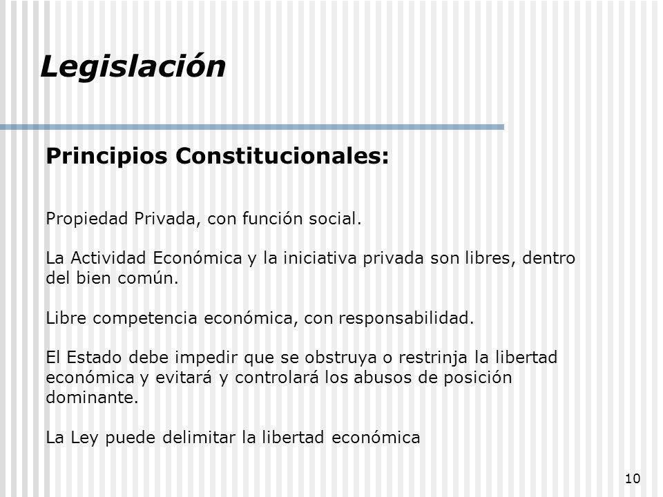 Legislación Principios Constitucionales: