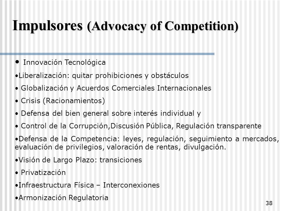 Impulsores (Advocacy of Competition)