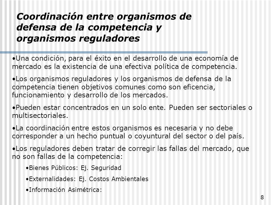 Coordinación entre organismos de defensa de la competencia y organismos reguladores
