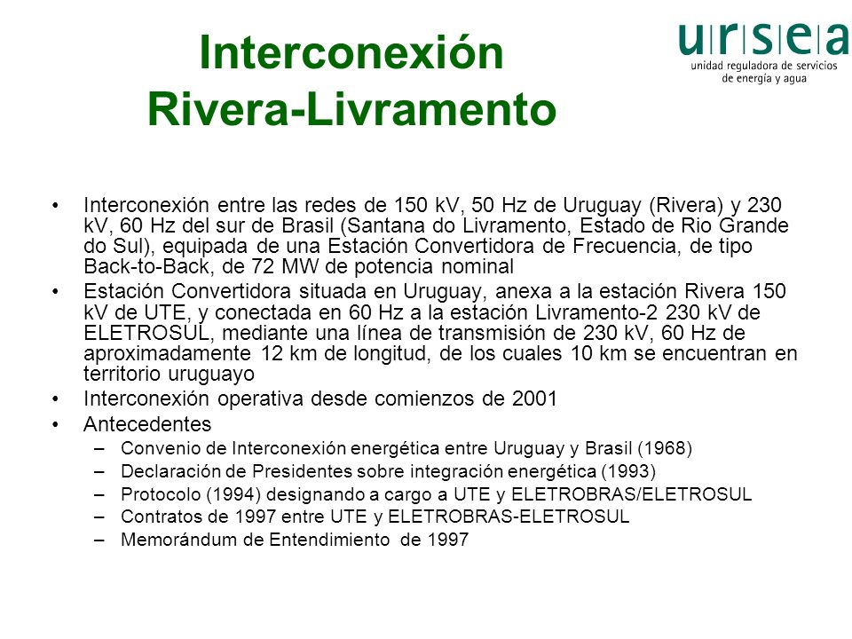 Interconexión Rivera-Livramento