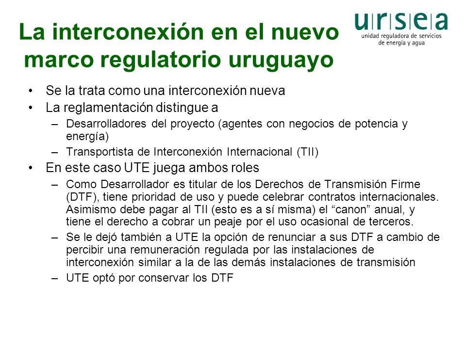 La interconexión en el nuevo marco regulatorio uruguayo