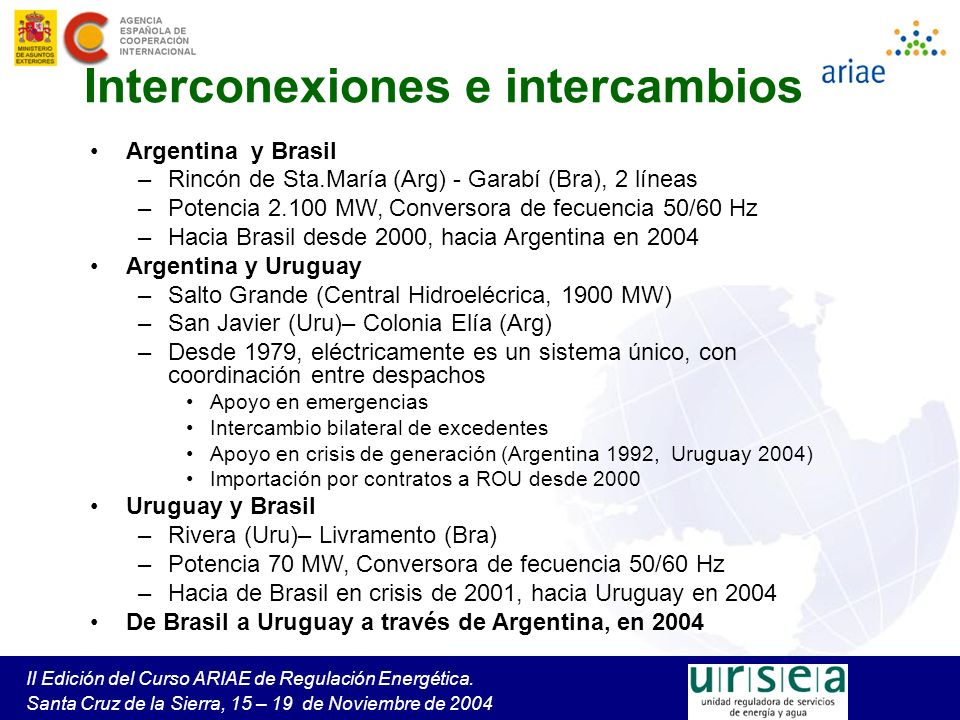 Interconexiones e intercambios