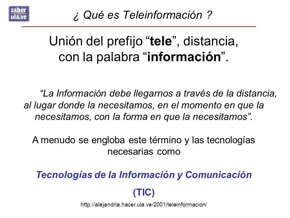 ¿ Qué es Teleinformación