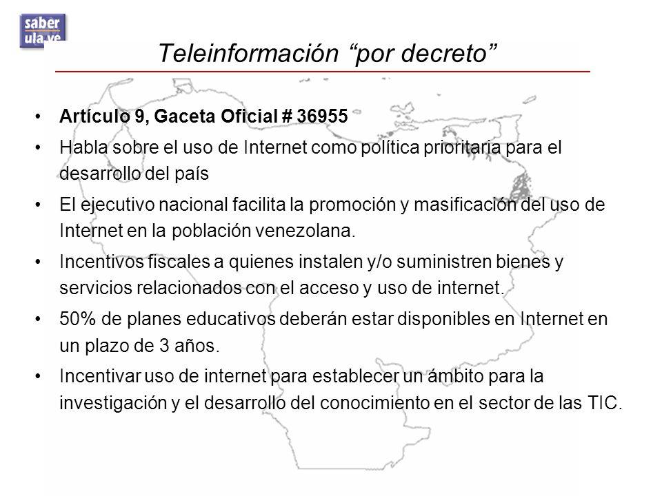 Teleinformación por decreto